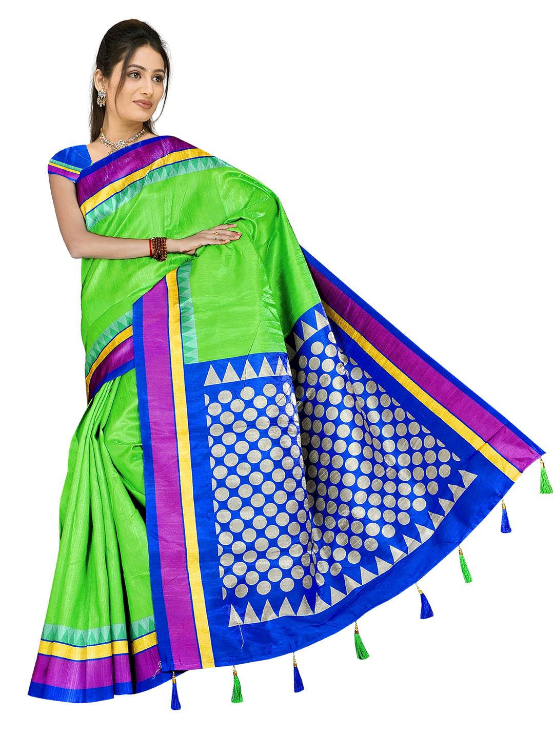 eee420c066e Buy   Shop bellbird fab parrot fancy Designer poly silk saree Online India